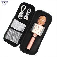 Ssmarwear WS 858 karaoke microfono senza fili altoparlante bluetooth microfono per il telefono del computer di registrazione youtube casa karaoke mic