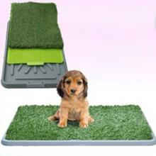 NEW 3-layer Pet Toilet Mat Dog Cat Training Potty Pad Cat Tray Toilet Urinary Trainer Grass Mat Patch for Large Medium Small Dog