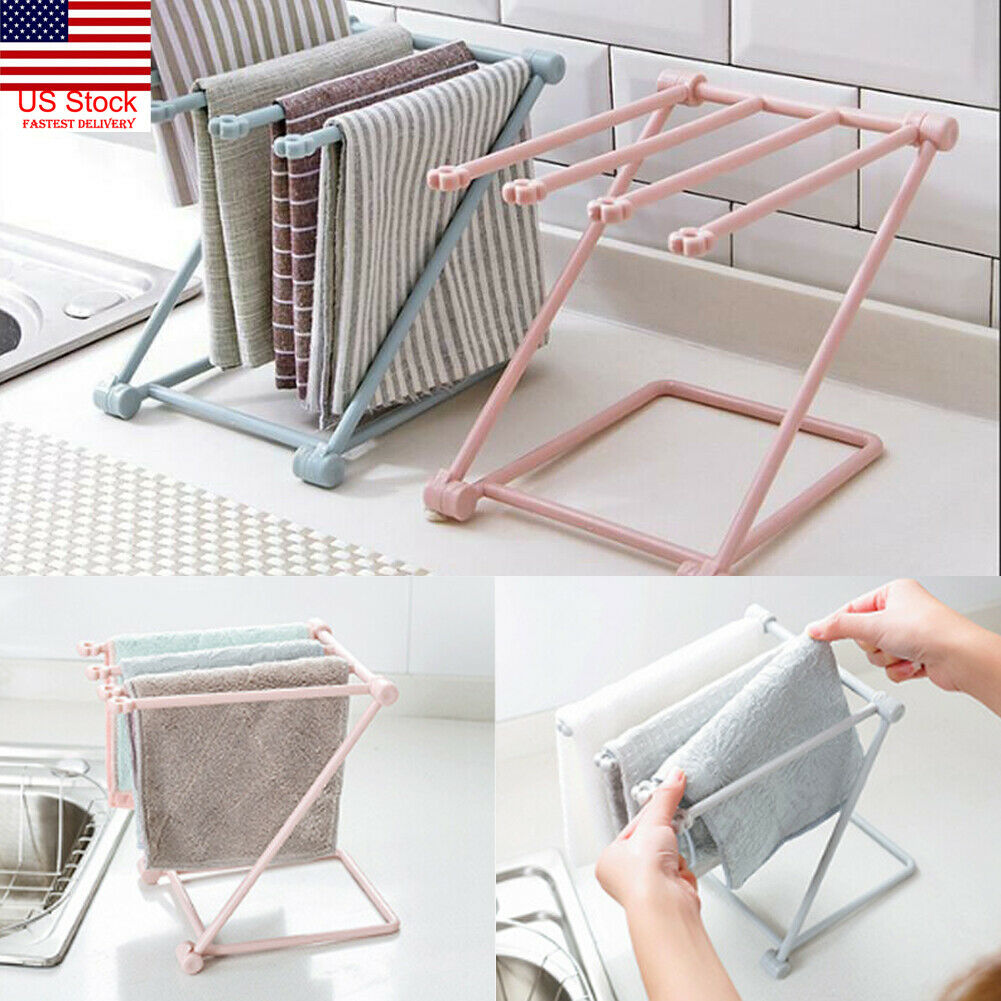 Kitchen Organizer Towel Rack Hanging Holder Bathroom Cabinet Cupboard Hanger Shelf For Kitchen Supplies Accessories Towel Rack