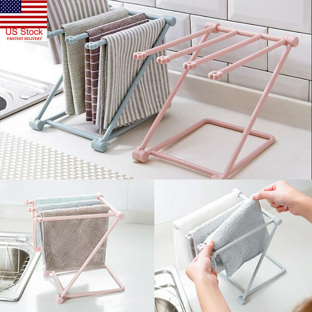 Kitchen Organizer Towel Rack Hanging Holder Bathroom Cabinet Cupboard Hanger Shelf For Kitchen Supplies Accessories Towel Rack