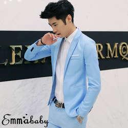 Для Мужчин's Повседневное Slim Fit Формальные Бизнес одна кнопка костюм Блейзер Пальто Куртка Топы