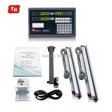 Полный станок 2 оси устройство цифровой индикации набор/комплект и шт. 5u линейное стекло весы линейная оптическая линейка для фрезерования/Токарные станки