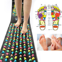 Reflexology Walk Stone Foot Massager Pad Pain Relieve Walk Massager Blood Circulation Shiatsu Mat Acupressure Massageador 170cm