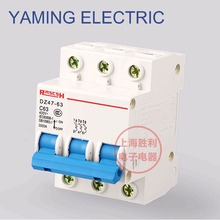 P69 Miniature Circuit Breaker DZ47-63 400V 3P 6-63A 3 Pole Switch 50HZ MCB DIN Rail Mount Overload Circuit Breaker original miniature circuit breaker idpna vigi c16a 4 5 6ka