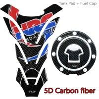For CBR1000 600RR CB400 CB750 CB1300 HORNET HRC logo Real Carbon fiber tank pad Protector Sticker