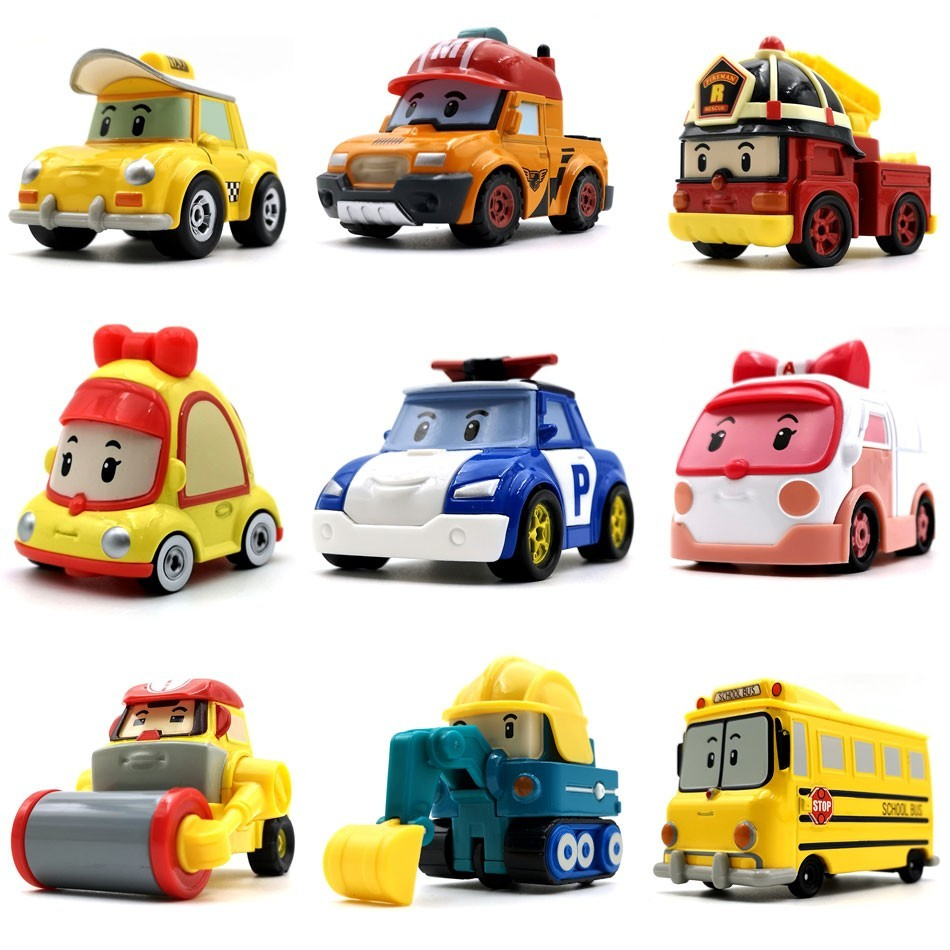 Robocar Poli 23 Style Kids Toy Anime Action Figures Anba Car Metal Model Car Roy Fire Truck Toys For Children Christmas Gifts