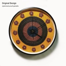 New 3D Wall Clock Handmade Crochet With Paste Drill Original Design Modern Silent Movement Duvar Saati Watch