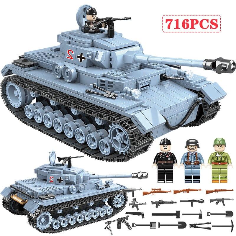 Купить 716 шт Technik Военный танк строительные блоки ...