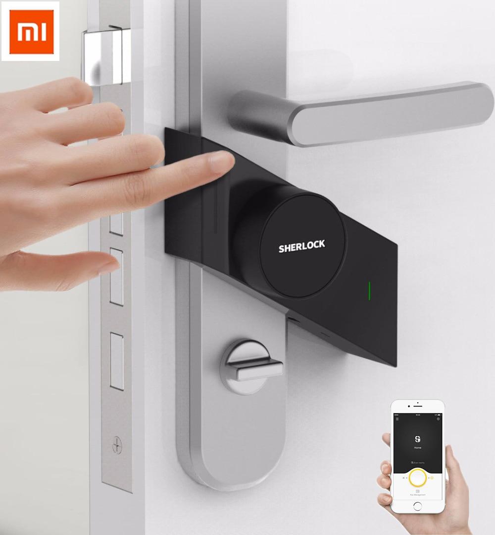 купить Xiaomi Original Sherlock Smart lock S2 mijia Smart door lock Keyless Fingerprint+Password work to Mi home app phone control по цене 5711.11 рублей