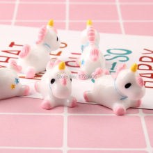 Resin Unicorn Craft cabochon 3D flat back resin cabochons 5 pcs 30x16x24 mm Cute Lovely kawaii