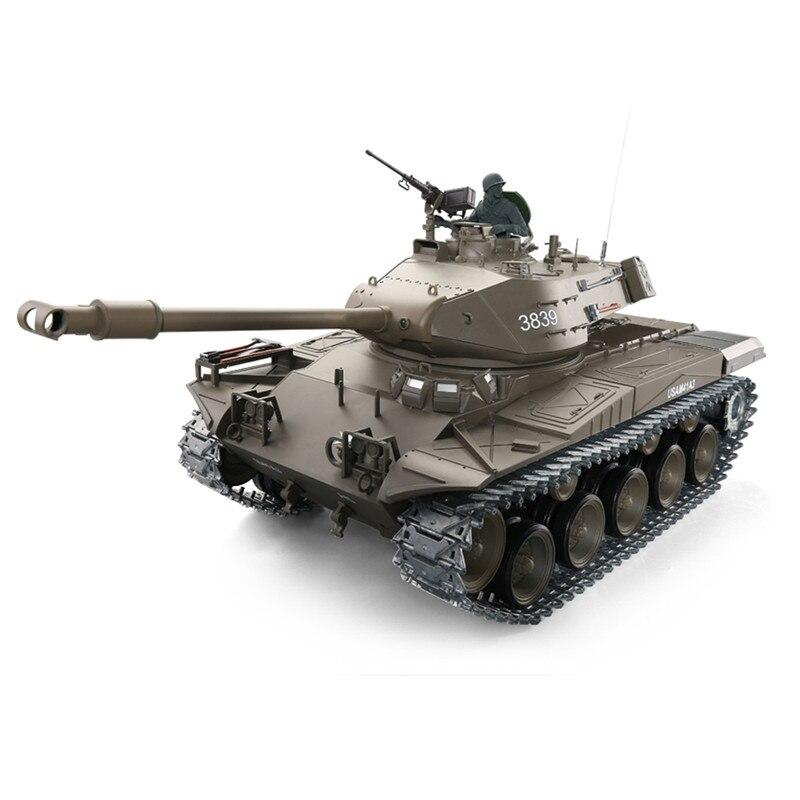 Nouveau Heng Long 1/16 3839-1 2.4G Wacker BulldogRadio contrôle RC réservoir de bataille us M41A3 pour enfants télécommande réservoir jouet