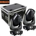 2 шт./лот & flightcase 200 Вт LED BSW 3-в-1 сценический свет cabeza movil 200 Вт линейный зум bsw луч для точечной промывки движущийся головной свет Dmx
