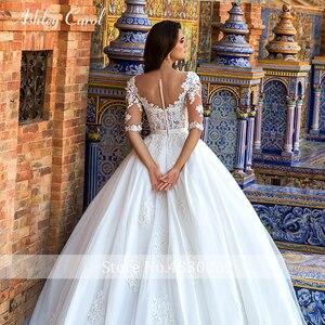 Image 4 - Ashley carol laço princesa vestido de casamento 2020 vestido de baile elegante miçangas apliques nupcial do vintage vestidos de noiva