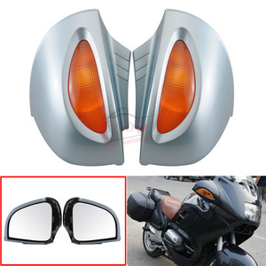 Motorcycle Fairing Side Rearview Mirrors For BMW R1100RT R1150RT R1100 RT R1150 RT Side Rear Rearview Mirrors w/Turn Signal Lens(China)