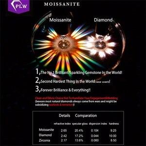 Image 5 - כולל את תעודת הנחה באיכות במפעל מחיר 2 קרט 8 mm 5 יח\אריזה EF צבע Moissanite VVS עגול 3 Ex cut מבריק