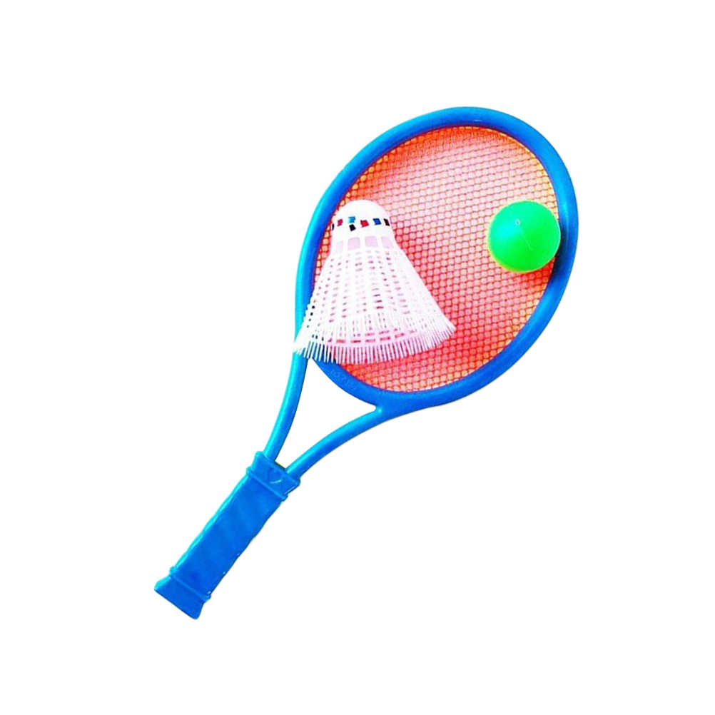 Badminton Tennis Rackets Balls Set Children Kids Outdoor Sports Parent-Child Sports Educational Sports Game Toys for Children