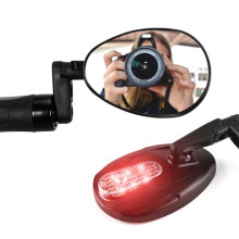 1PCS Bicycle Rear View Mirror Convex Glass Bike Handlebar Mount Bar Ends Back Accessories