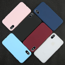 Simple Solid Color Ultrathin Soft Phone Cases