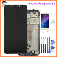 цена на Original New For Xiaomi Pocophone F1 LCD Display Touch Screen Digitizer Assembly for Xiaomi Pocophone F1 LCD Screen Replace