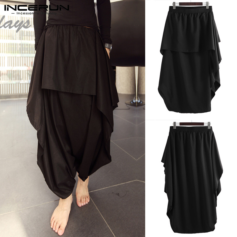 Fashion Pants Trousers Skirt Harem Bottom Wide-Legs Hiphop Big-Crotch Baggy 5XL NEW Hmong