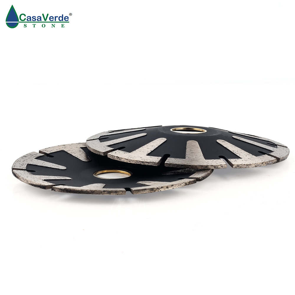 DC-TCCB01 D115mm T-Segmented Concave Blade Diamond Blade For Curved Cutting Turbo Rim 4.5