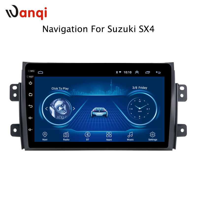 <font><b>Android</b></font> 8.1 car dvd player For <font><b>Suzuki</b></font> <font><b>SX4</b></font> 2006 2007 <font><b>2008</b></font> 2009 2010 2011 2012 2013 navigation raido player image