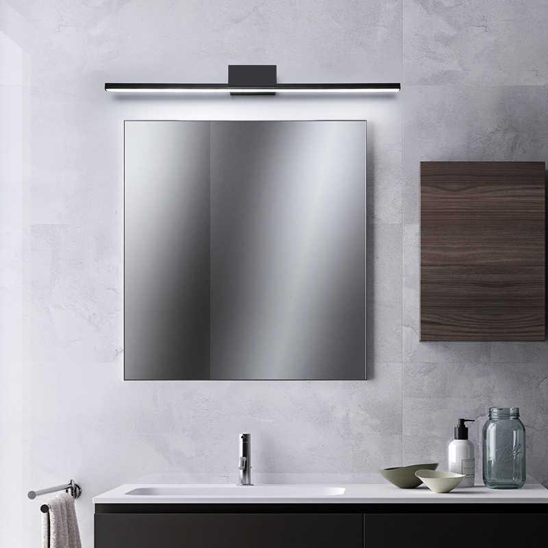 الأسود/الأبيض الحديثة أدى مرآة ضوء وحدة إضاءة led جداريّة مصباح منضدة الزينة الحمام ضوء الألومنيوم وحدة إضاءة led جداريّة ضوء مصباح غرفة النوم AC90-260V