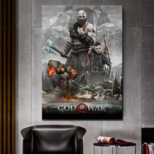 1 Piece Printed God of War 4 Game Canvas Printed Wall Pictures Home Decor For Living Room Poster Wholesale(China)