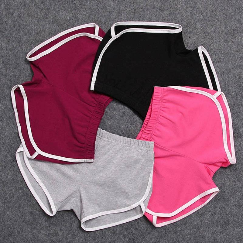 Summer Women's Elastic Waist Shorts Casual Sport Cotton Female Correndo Beach Stretch Loose Short