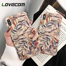 Funda de teléfono LOVECOM Vintage con flores y hojas de acuarela para iPhone 11 Pro Max XR XS Max 6 6S 7 8 Plus, carcasa trasera dura mate para teléfono PC