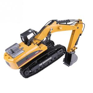 Image 3 - HUINA 1580 2.4G 1:14 23CH 3 in 1 Rc Hydraulic Excavator Electric Model Excavator Engineering Vehicle Remote Control Truck Autos