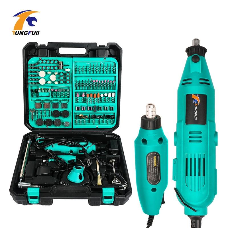 Tungfull mini accessori trapano elettrico trapano punte strumenti di lavorazione del legno A Velocità Variabile Elettrico Utensile Rotante Mini Drill Grinder