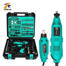 Tungfull mini electric drill accessories drill bits woodworking tools Variable Speed Electric Rotary Tool  Mini Drill Grinder punch twist nose cap drill dedicated locator for electric grinder rotary tool diy woodworking tools