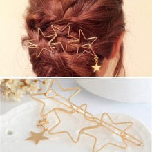 Fashion Woman Star Heart Metal Hair Clips Hairpins Hair Acce