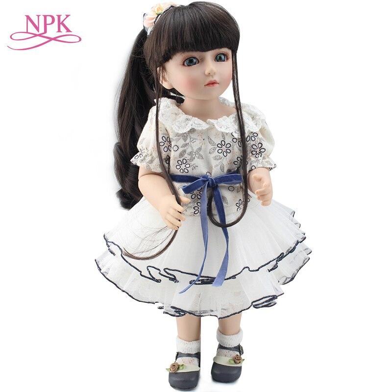 45 centímetros linda Rapunzel menina BJD boneca BJD/SD Renascer bonecas artesanais 18