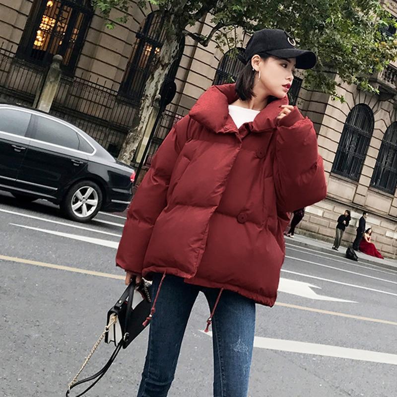 Black Casual Coton Plus Veste Solide De Couleur Manches Longues Ouatée picture Parkas Lâche Dames Col La D'hiver À Femelle Taille Manteau Z270 Color Montant Mode xT6qRB7F