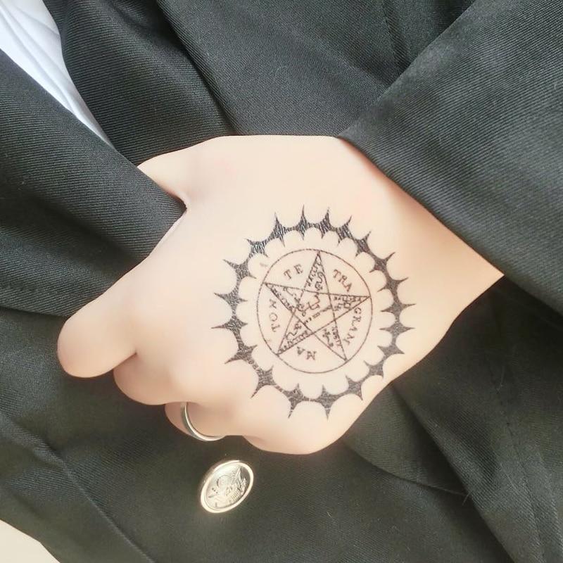 Black Butler Sebastian Michaelis Contract Cosplay Props Tattoo 5cm*5cm Sticker XR075