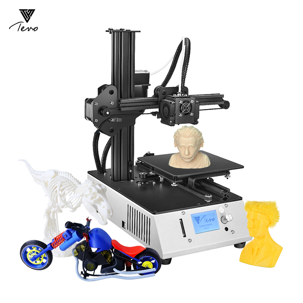 TEVO 3D Printer 3D Printer Kits Michelangelo Desktop Fully Assembled 3D Printer Aluminum Frame Extruder Work