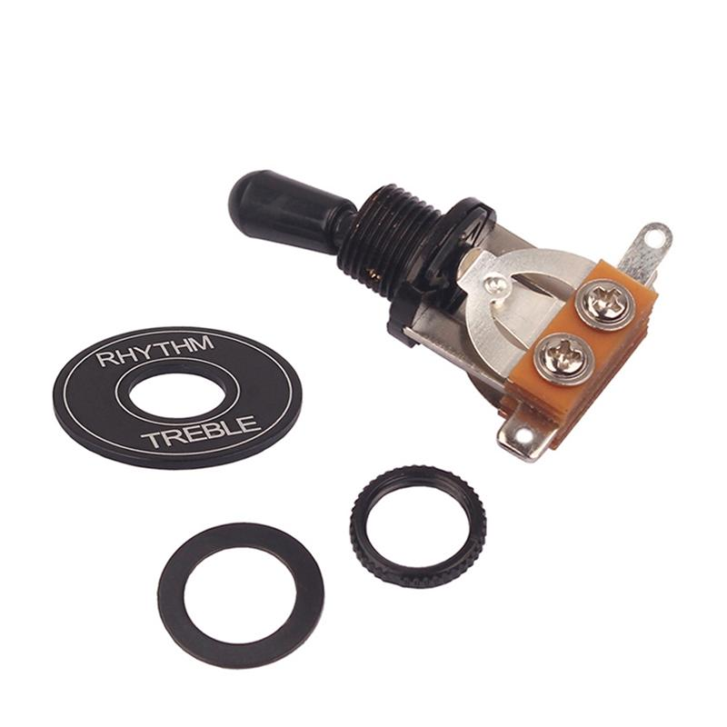 3 Way Toggle Switch Rhythm Treble Washer Ring Plate Switch Washer Ring kit for Gibson Epiphone Les Paul / LP Electric Guitar