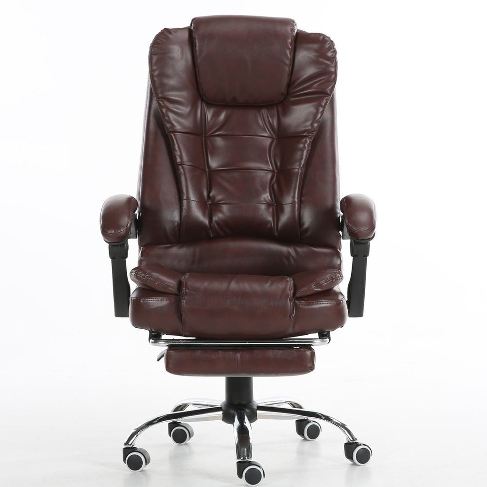 Купить с кэшбэком Household Can Motor-driven Massage To Work In An leather Office Rotating Lift Main Sowing Computer Chair