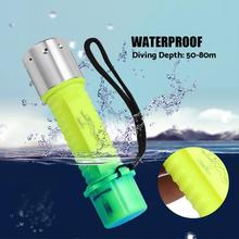 LED Diving Flashlight Waterproof Submarine Torch Lamp Underwater linterna