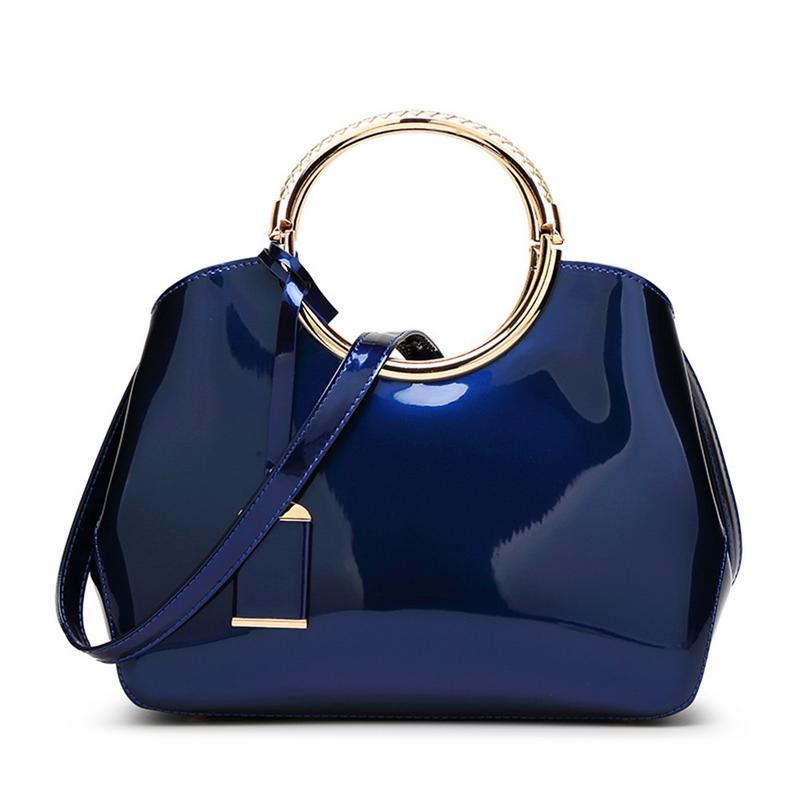 Bright Leather All-Matched Shoulder Bag Handbags Messenger Crossbody Handbags