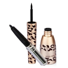 Brand New Leopard Bottle of 2 in 1 Black Waterproof Liquid Eyeliner and Pen M01157