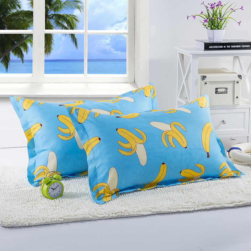 Solar Power Source Painstaking 1 Piece 48cm*74cm Cartoon Banana Printed Pillowcase For Kids Anime Fruit Pillow Case Cover For Children Bedroom Use 50 And Digestion Helping