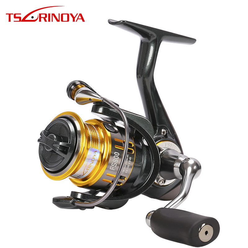 TSURINOYA UL Fishing Reel FS 800 1000 2000 3000 5.2:1 9+1BB Trout Freshwater Saltwater Spinning Fishing Lure Reel