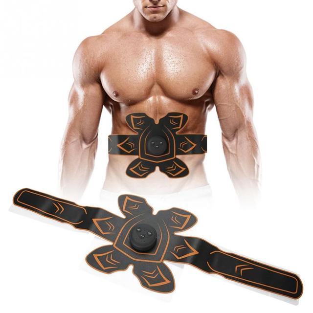充電式 EMS 腹筋フィットベルト国内腹部筋肉刺激調色 Up マシンスリム腹部体重脂肪燃焼
