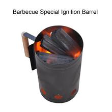 Aluminum Alloy Charcoal Barrels Charcoal Igniting Carbon Barbecue Igniter Outdoor Barbecue Lighting Barrel Carbon Barrel