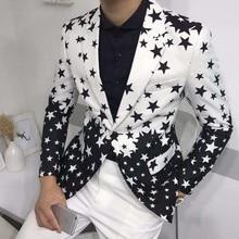 Star Print Suit Prom Blazers For Men RK