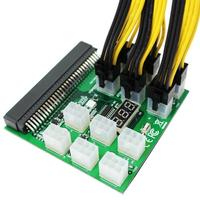 Power Breakout Board W/Button for HP PSU GPU Mining Ethereum + 12Pcs 6Pin Cables