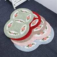 5 Colors 45x75cm Fiber Romantic Rose Mats Anti Slip Anti Bacteria Rugs Bath Mat Kitchen Carpet Rugs Doormat